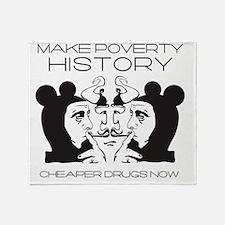 Make Poverty History Throw Blanket