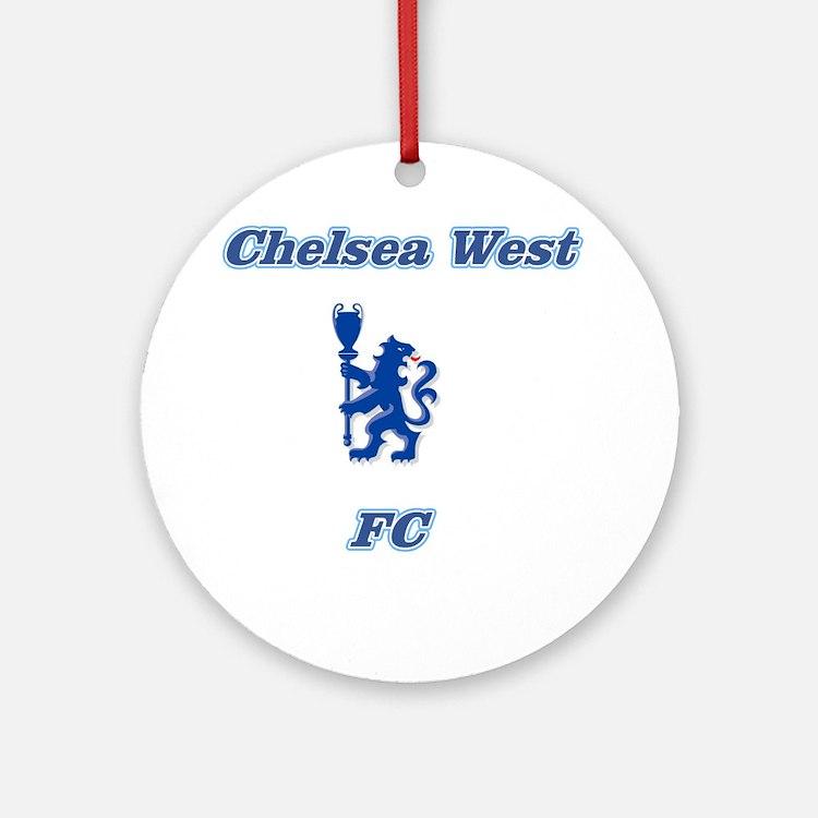 Chelsea West Main Logo Round Ornament