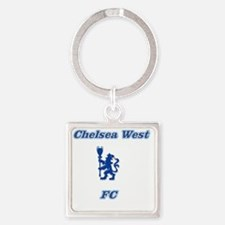 Chelsea West Main Logo Square Keychain