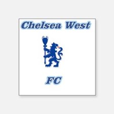 "Chelsea West Main Logo Square Sticker 3"" x 3"""