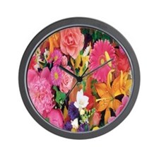 Daisy Flowers mixed Flip Flops Wall Clock