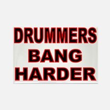 DRUMMERS BANG HARDER Rectangle Magnet