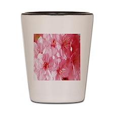 Pink Flowers Flip Flops Shot Glass