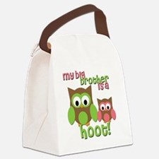 My Big Brother Is A Hoot Canvas Lunch Bag