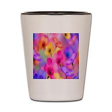 Mixed Flowers Flip Flops Shot Glass