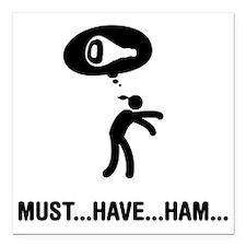 """Ham-C Square Car Magnet 3"""" x 3"""""""