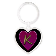 Unique Alphabet k heart Heart Keychain