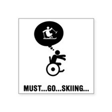 "Adaptive-Skiing-C Square Sticker 3"" x 3"""