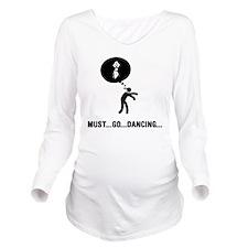 Belly-Dancer-C Long Sleeve Maternity T-Shirt