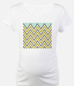 YELLOW & GRAY CHEVRON Shirt