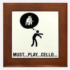 Cello-Player-A Framed Tile