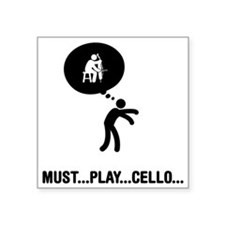 "Cello-Player-A Square Sticker 3"" x 3"""