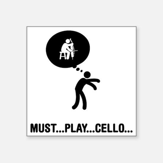 """Cello-Player-A Square Sticker 3"""" x 3"""""""