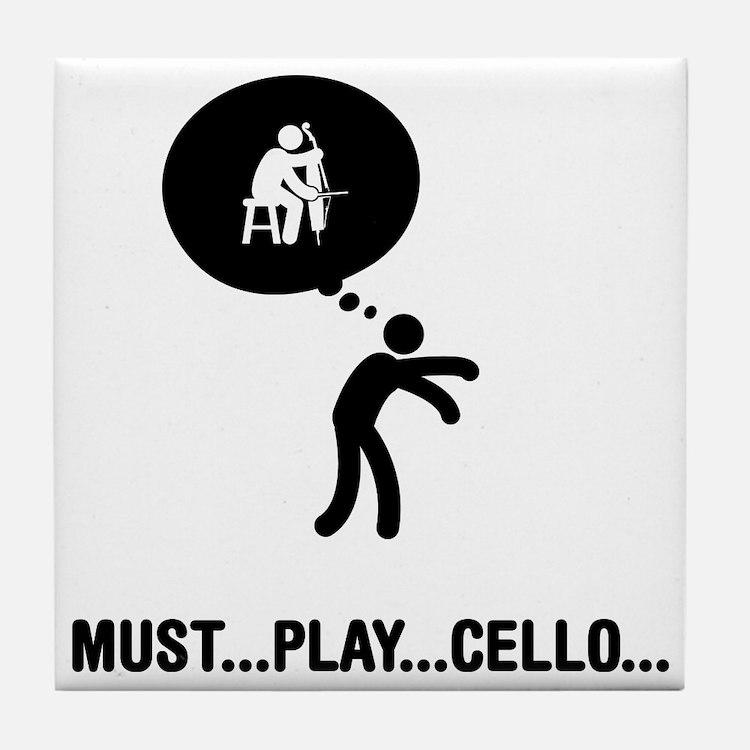 Cello-Player-A Tile Coaster