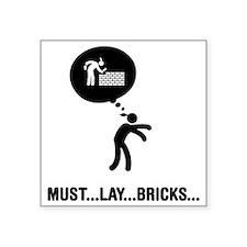 """Bricklayer-C Square Sticker 3"""" x 3"""""""
