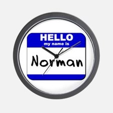 hello my name is norman  Wall Clock