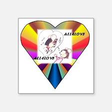 """All4Love Serenade Square Sticker 3"""" x 3"""""""