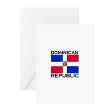 Dominican Republic Flag Greeting Cards (Package of