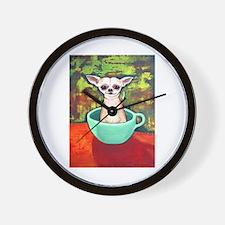 Fireking Teacup Chihuahua Wall Clock
