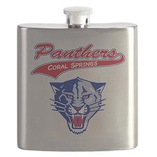 panther mascot Flask