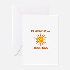 I'd Rather Be In Exuma, Baham Greeting Cards (Pack