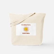 I'd Rather Be In Exuma, Baham Tote Bag