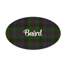 Baird Tartan Oval Car Magnet