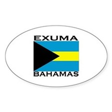 Exuma, Bahamas Oval Decal