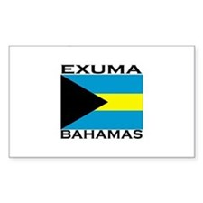 Exuma, Bahamas Rectangle Decal