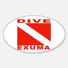 Dive Exuma, Bahamas Oval Decal