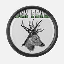 Buck Fever Large Wall Clock