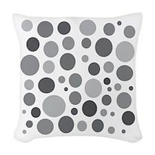 50 Shades of Grey Dots Woven Throw Pillow