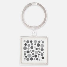 50 Shades of Grey Dots Square Keychain