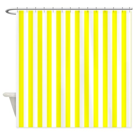 Yellow Striped Pattern Shower Curtain By GraphicAllusions
