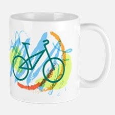 Bicycle Cycling Living Green Mugs