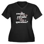to create... Women's Plus Size V-Neck Dark T-Shirt