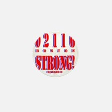 BOSTON STRONG Red, White and Blue Mini Button