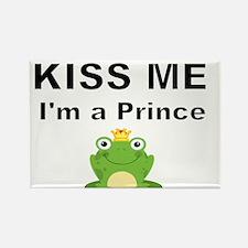 Kiss me Im a prince Rectangle Magnet