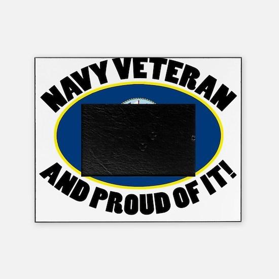 Proud Navy Veteran 2 Picture Frame
