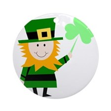 Little Irish Guy Round Ornament