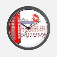 """""""Going To London"""" Lyric -Telephone boot Wall Clock"""