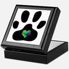 Rainbow Heart Pawprint Keepsake Box