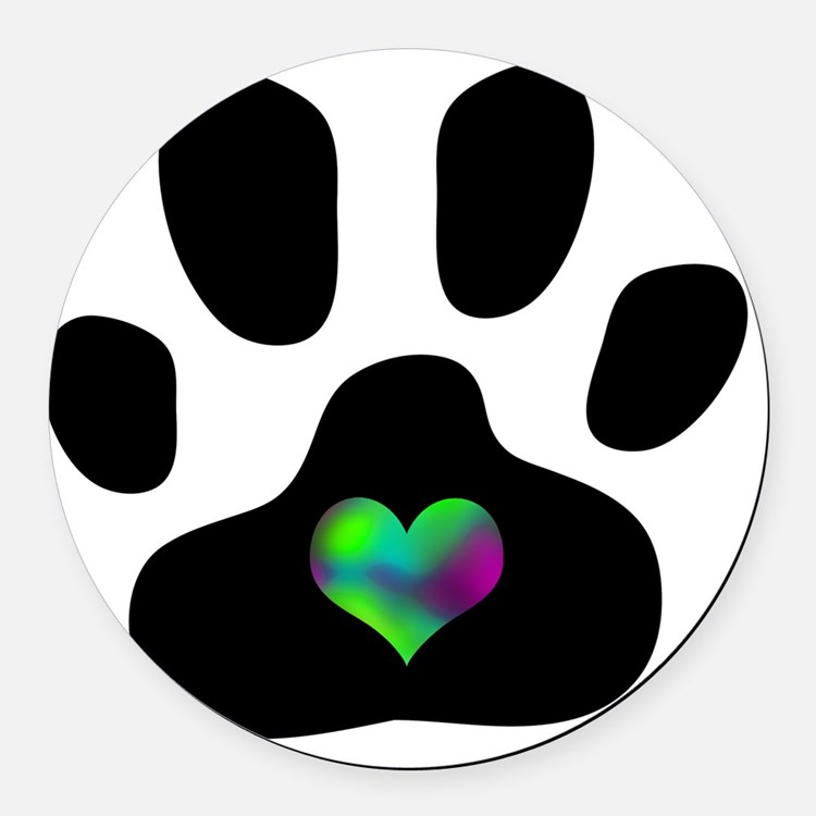 Pets Car Magnets Personalized Pets Magnetic Signs For Cars - Custom car magnets paw print