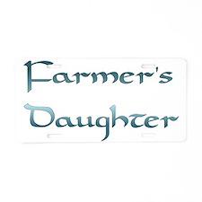 Farmer's Daughter Aluminum License Plate