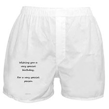 Birthday Wishes Card Boxer Shorts