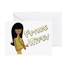 Hand Font Future Wifey Greeting Cards (Package of