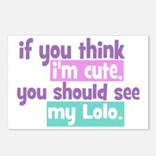 If you think im cute - Lo Postcards (Package of 8)