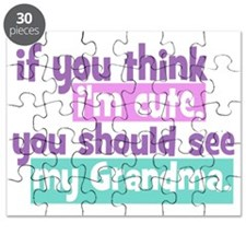 If you think im cute - Grandma Puzzle