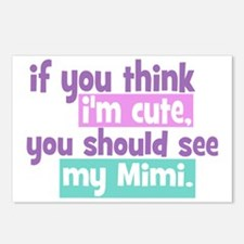 If You Think Im Cute - Mi Postcards (Package of 8)