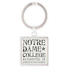 Notre Dame College Square Keychain